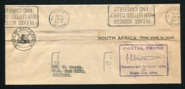 KENYA WRAPPER POSTAL FRANK COMMISSIONER BRITISH EAST SOUTH AFRICA NAIROBI 54 - Other Collections
