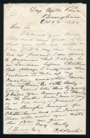RARE C A BROOKER CRYSTAL PALACE BIRMINGHAM 1869 LETTER 1ST CYCLIST IN UK - Old Paper