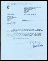LETTER & AUTOGRAPH MAJOR ASALBAHADUR LIMBU DUKE EDINBURGH GURKHA RIFLES 71 - Other Collections
