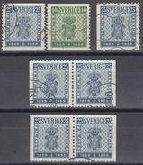 SUECIA 1955 Nº 395/96 +395a + 395ab + 395d USADO