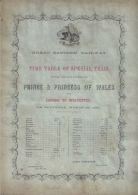 RARE GREAT EASTERN RAILWAY TIMETABLE PRINCE PRINCESS WALES SANDRINGHAM 1863 - Other Collections