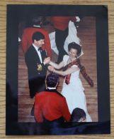 FINE ORIGINAL PRESS PHOTO PRINCESS ANNE IN TARTAN DANCING SCOTTISH REELING B - Unclassified