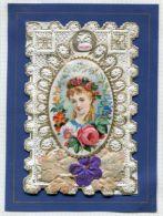 VALENTINE CARD U.S.A. FLOWERS - Old Paper