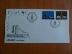 Envelope With Commemorative Seal, Brasil 90., NATAL 90 - Brazil