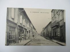 CPA 81 CARMAUX RUE DE LA TOUR COMMERCES - Carmaux
