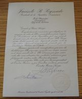 OFFICIAL LETTER TO KING GEORGES II OF THE HELLENES FROM PRESIDENT SAN DOMINGO - Other Collections