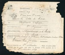 RARE DOCUMENT THAT SURVIVED THE BURNING OF MINISTRY OF FINANCE 22 MAY 1871 - Other Collections