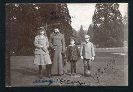 SIGNED PHOTO PRINCESS MARY, PRINCE GEORGE AND HENRY CHILDREN OF KING GEORGE V - Other Collections