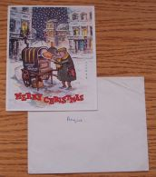 FINE SIGNED CHRISTMAS CARD AND ENVELOPE PRINCE CHARLES SON OF QEII - Other Collections