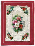 VALENTINE CARD PEONIES FLOWERS - Old Paper