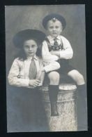 PHOTO POSTCARD PRINCE BERTHOLD & MARIE OF BADEN NOTE WRITTEN BY MOTHER 1911 - Other Collections