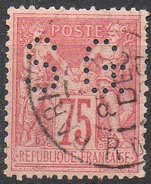 France - N°81 Perforé Oblitéré - Dents Courtes - 1876-1898 Sage (Type II)