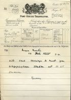 ROYAL TELEGRAM 1899 OSBORNE HOUSE,ISLE OF WIGHT,HORSES - Other Collections