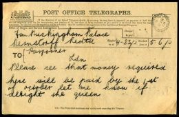 ROYAL TELEGRAM QUEEN ALEXANDRA BUCKINGHAM PALACE - Other Collections