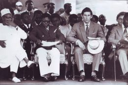 THREE FINE ORIGINAL PRESS PHOTOS PRINCE CHARLES PRESIDENT HOUPHOUET GHANA 1977 - Famous People