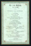 72TH REGIMENT DINNER AT GROSVENOR RESTAURANT NEW BOND STREET 1882 NESSELRODE - Unclassified