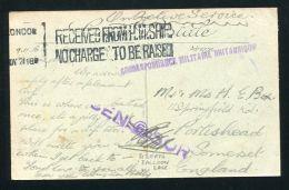 GB FRANCE DOUBLE CENSOR MARITIME BIZERTA BALLOON BASE 1918 - Postmark Collection