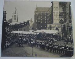 ORIGINAL ANTIQUE PHOTO CORONATION KING EDWARD VII QUEEN ALEXANDRA 1902 - Other Collections