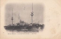 """Bâteaux - Marine De Guerre - Mâts - Cuirassé """"La Dévastation"""" - Précurseur - Guerre"""