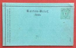 AUSTRIA  -  BIGLIETTO POSTALE   DA  3 Kr  BILINGUE - Covers & Documents