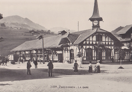 Ligne De Chemin De Fer Montreux Oberland Bernois, Zweisimmen La Gare Vue Générale Après Les Transformations De 1931 Repr - BE Berne