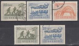 SUECIA 1956 Nº 411/13 + 411a/12a USADO