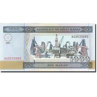 Azerbaïdjan, 1000 Manat, 2001, 2001, KM:23, NEUF - Azerbaïjan