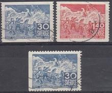 SUECIA 1957 Nº 414/15 + 414a USADO