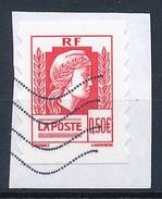 France - 60 Ans De La Marianne D'Alger YT A 43 (3716) Obl. Ondulations Sur Fragment - Adhésifs (autocollants)