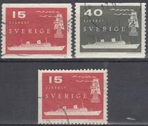 SUECIA 1958 Nº 427/28 + 427a USADO