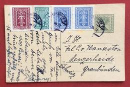 AUSTRIA  - INTERO POSTALE 5 Kr +10+15+75 Coppia Da INNSBRUCK PER L'ESTERO IN DATA 30/8/1922 - Covers & Documents
