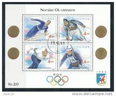 NORGE - NORWEGEN Mi.Nr. Block 16 Olympische Spiele - Used
