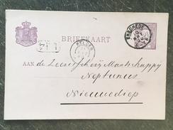 B21 Niederlande Netherlands Pays-Bas Ganzsache Stationery Entier Postal Mi. P 12 Von Enschede Nach Helder - Postwaardestukken