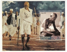 Benin 2005 Mahatma Gandhi Of India Dandi March Imperforate M/s