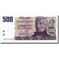 Argentine, 500 Pesos Argentinos, Undated 1984, Undated 1984, KM:316a, NEUF - Argentine