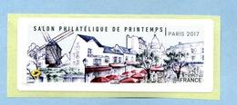 2017 SALON PHILATÉLIQUE DE PRINTEMPS  VIGNETTE VIERGE - 2010-... Illustrated Franking Labels