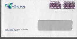 PAYS BAS   Lettre Euro - Poststempels/ Marcofilie