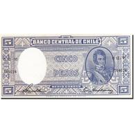 Chile, 5 Pesos = 1/2 Condor, 1958, Undated (1958-1959), KM:119, NEUF - Chili