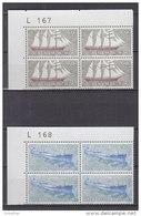 Dänemark, 503-504, 4erBlock, Postfrisch **,  Schifffahrt, 1970