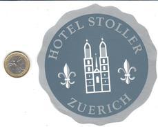 ETIQUETA DE HOTEL  -  HOTE STOLLERL - ZUERICH - SUIZA (SUISSE)  (CON CHARNELA) - Hotel Labels