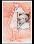 Uganda 1998 MNH M/s Mahatma Gandhi Walking During Noakhali Riots 1946 Chittagong Division Of Bengal (Now In Bangladesh)