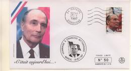 Hommage à François Mitterand -2 Belles Enveloppes éditées En Tirage Limité à 75 Et 100 Exemplaires à Mareuil En 1997 RRR - Storia Postale