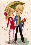 Carte Brodée - Jeune Couple - Brodées