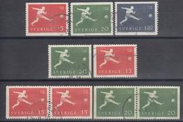 SUECIA 1958 Nº 429/31 + 429a/30a + 429b/30b USADO - Sweden