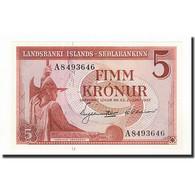 Iceland, 5 Kronur, KM:37b, 1957-06-21, NEUF - IJsland