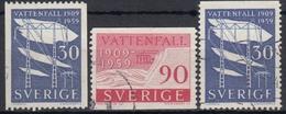 SUECIA 1959 Nº 437/38 + 437a USADO