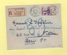 Dampierre Sur Salon - Haute Saone - 22-11-1956 - Recommande - Storia Postale