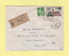 Fallon - Haute Saone - 19-10-1962 - Recommande - Storia Postale