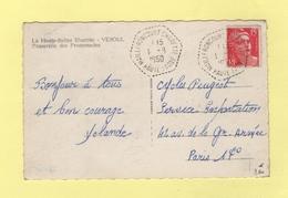 Mailleroncourt Charette - Haute Saone - 1-9-1950 - Marcophilie (Lettres)
