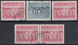 SUECIA 1960 Nº 450/51 + 450a + 450b USADO